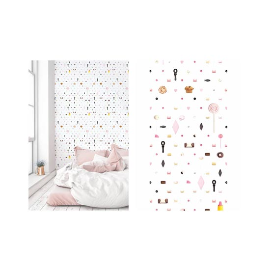 Prachtig behang voor de slaapkamer. De lampen, meubels en overige styling. Alles perfect in balans bij deze zoete kinderkamer tips.