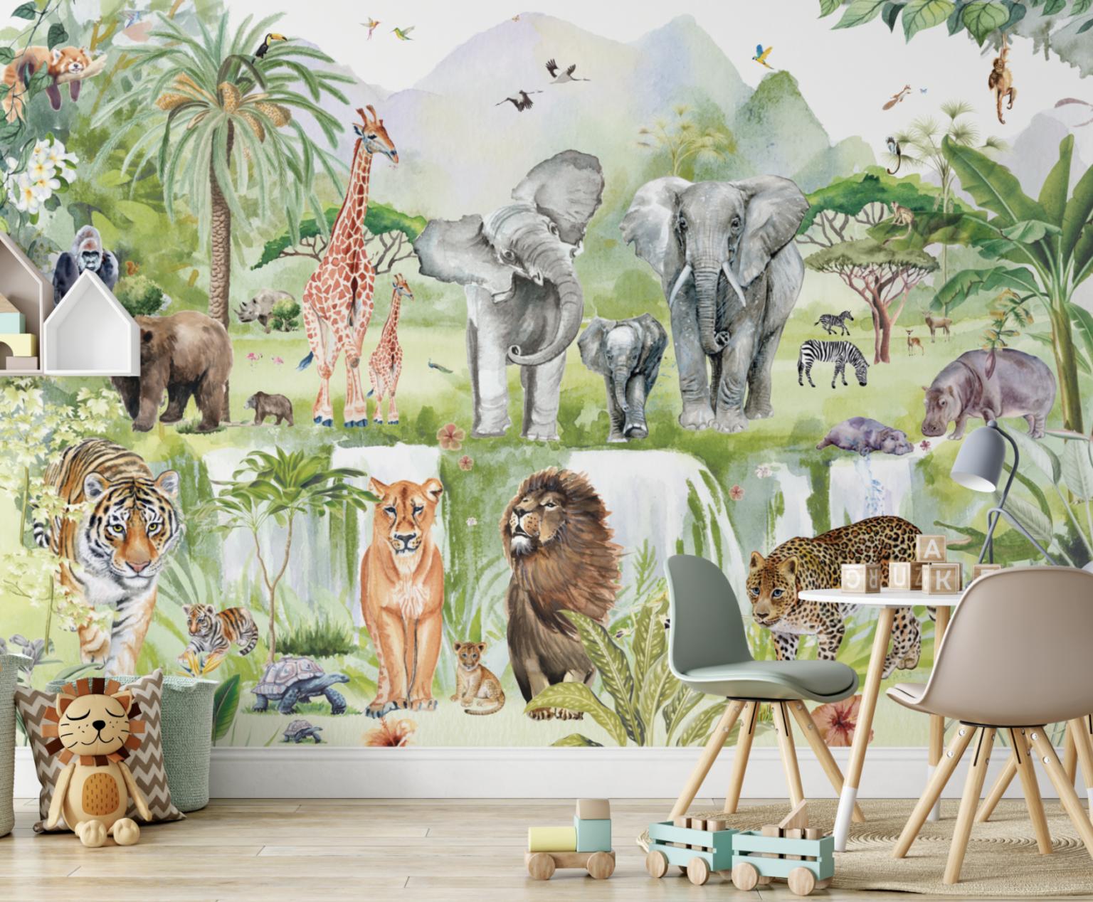Safari behang van Fleur des Fleur | Het leukste kinderbehang
