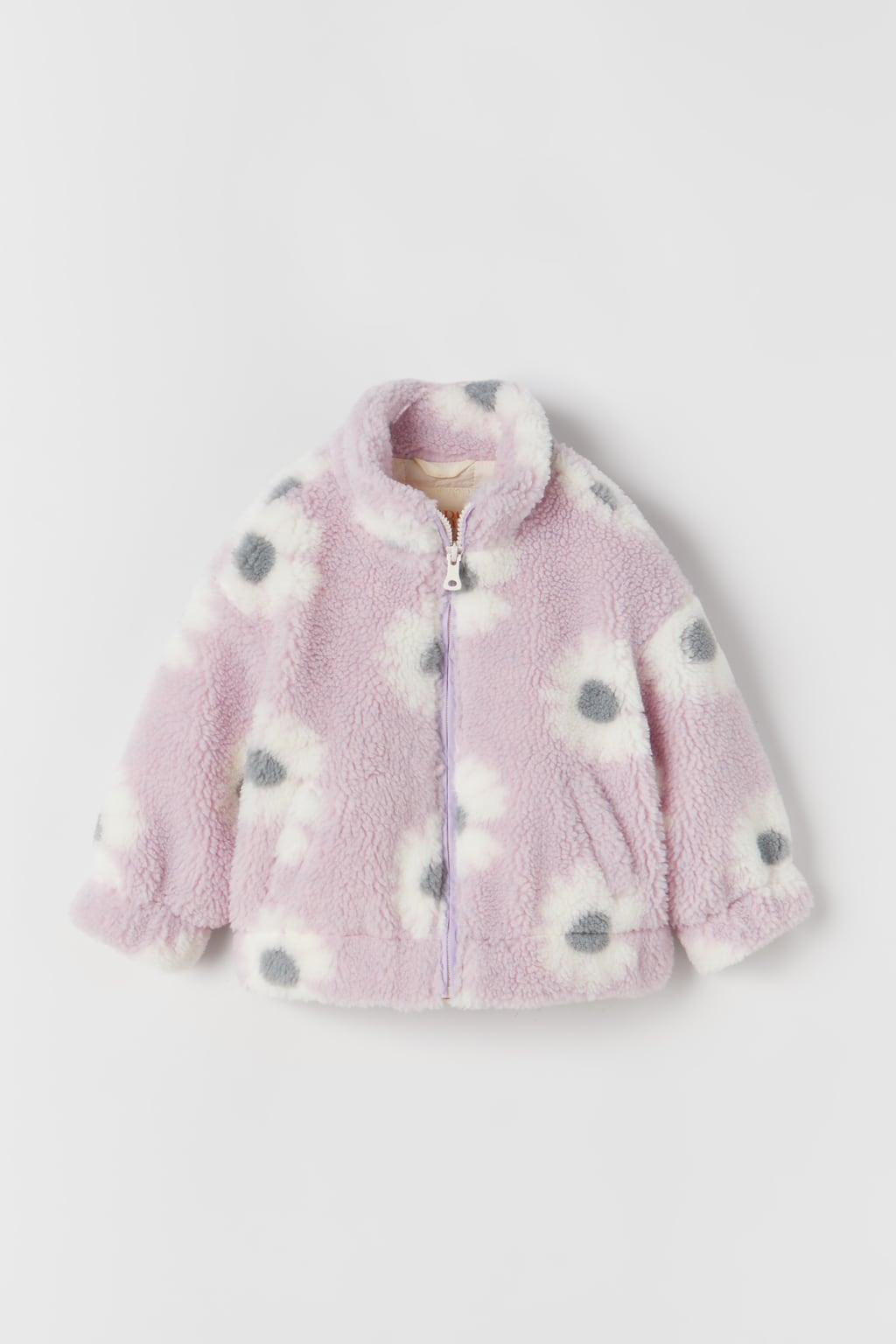 jack met teddy en bloemen   Winterjassen voor meisjes