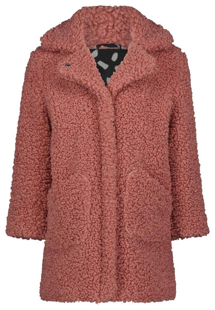Roze teddy jas   Winterjassen voor meisjes