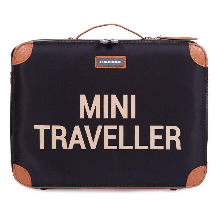 Zwarte kinderkoffer 'Mini Traveller' van Child Home