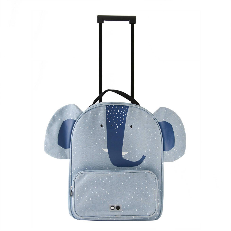 Blauwe kinderkoffer met olifant   Koffertips voor kinderen