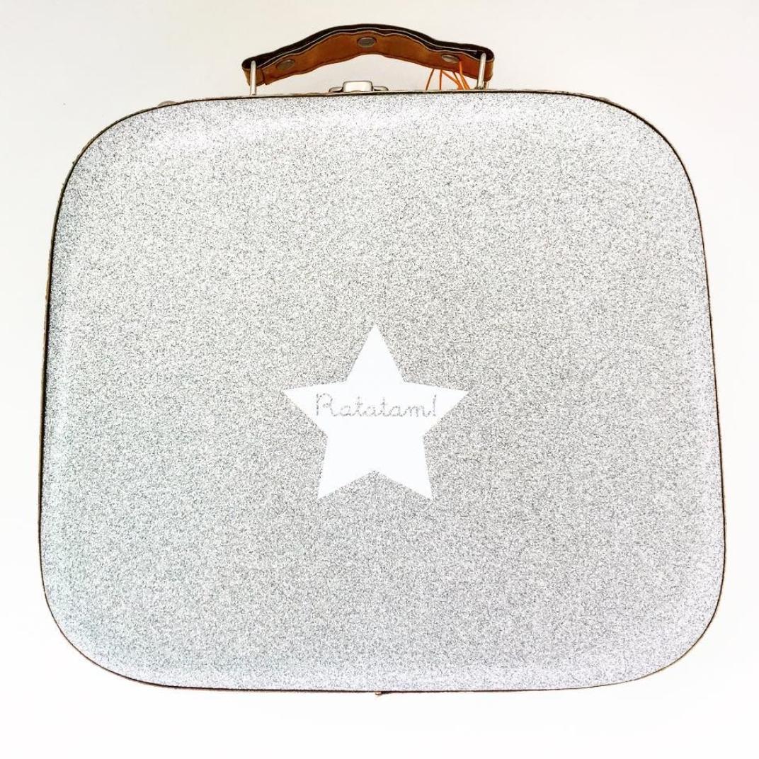 Zilveren koffer Ratamam met ster