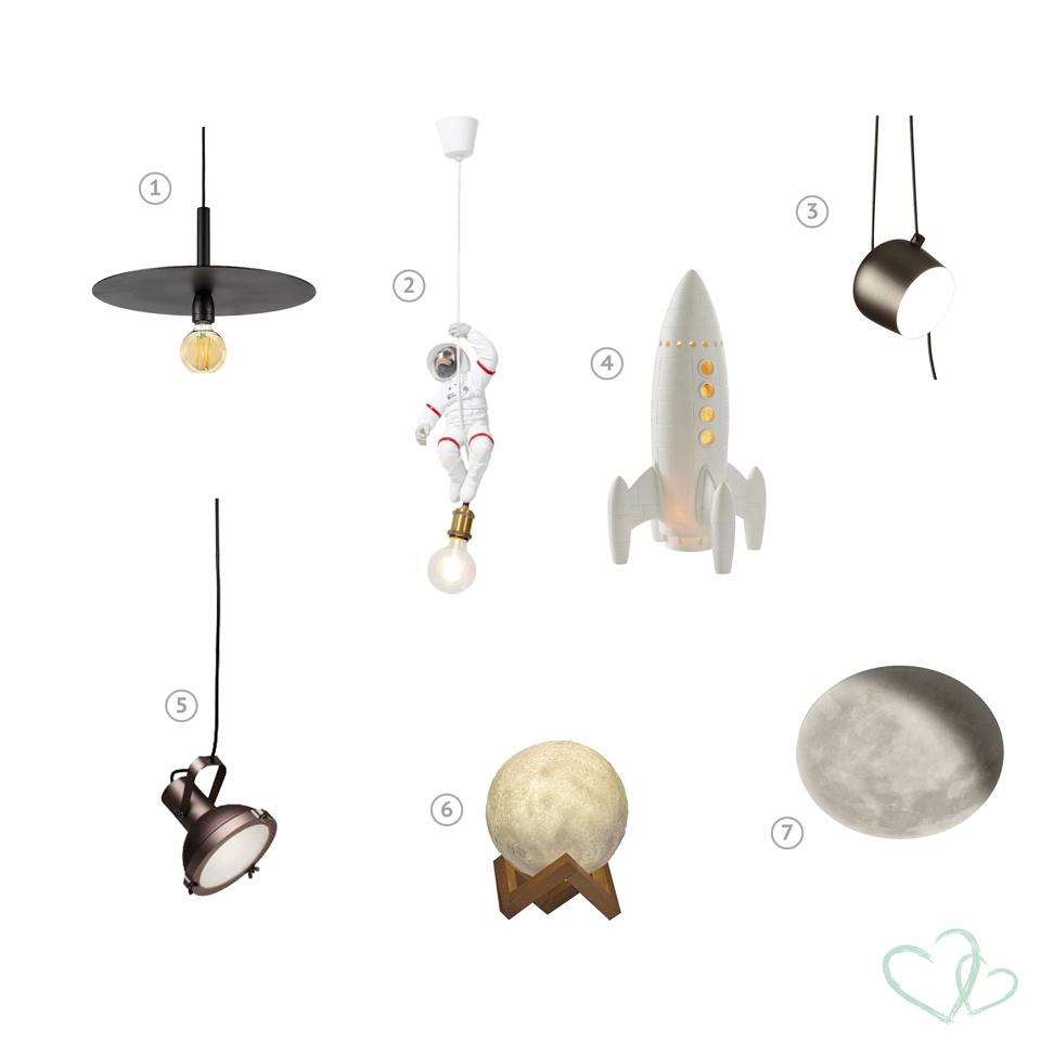 Kinderkamer lampen ruimtevaart | kinderkamerstyling