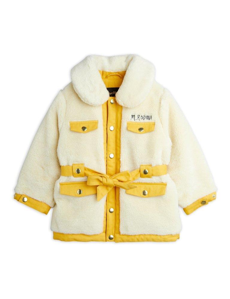 Off White fur jas Mini Rodini bij Toddlers and Tees