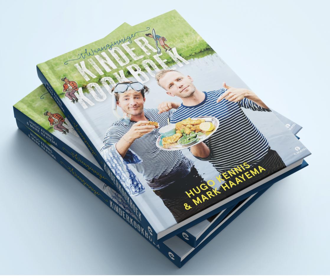 """Lees meer over het nieuwe kinderkookboek """"ik heb zo wa wa wa waanzinig gekookt"""" van Mark Haayema en Hugo Kennis bij Kinderfavorites."""