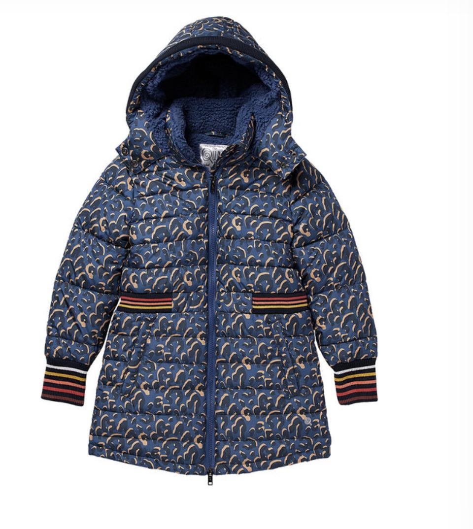 Blauwe winterjas voor meisjes van Quapi