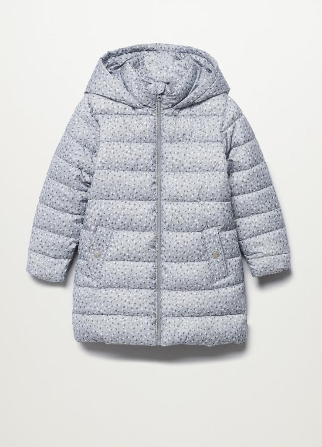 Gewatteerde winterjas voor meisjes