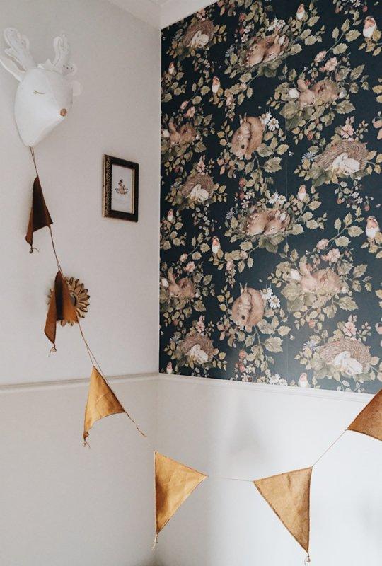 Slapende dieren op prachtig Behang van deKornik | Kinderkamerdecoratie