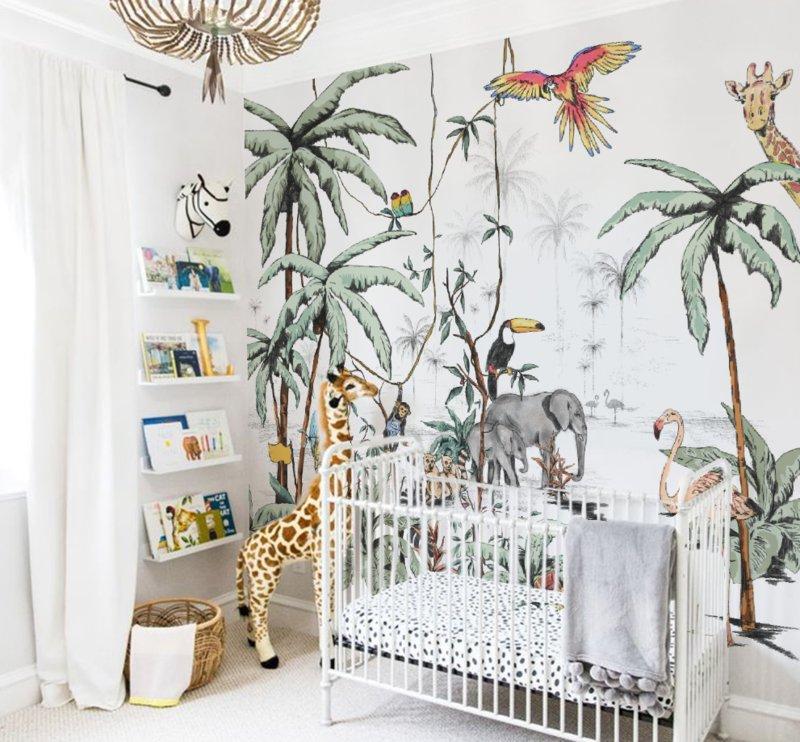 Safaribehang van Annet Weelink | Kinderkamer behang