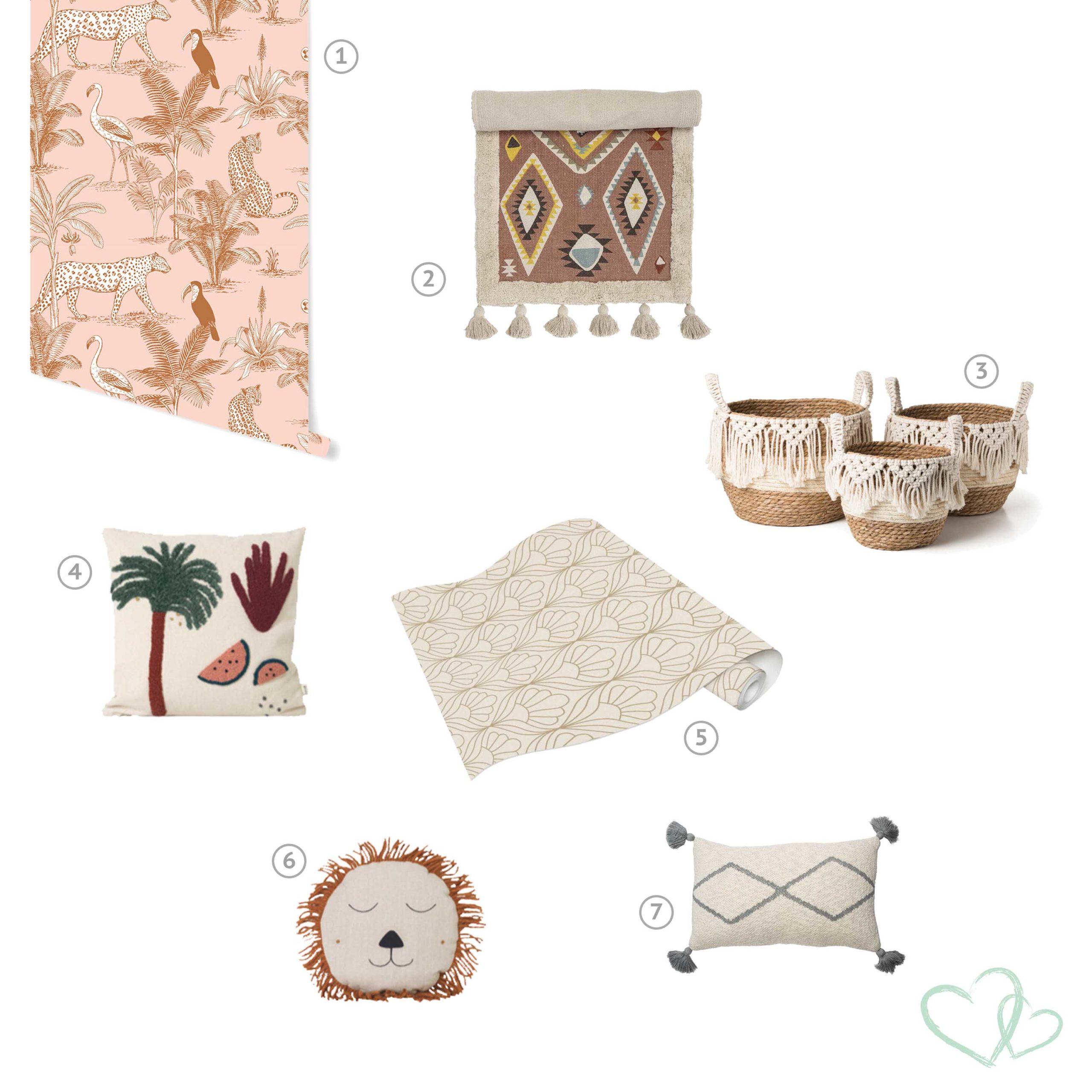 Bohemian kinderkamer, alle tips voor de perfecte kinderkamer. Alles in Bali stijl. Mooie meubels, behang, accessoires voor de kinderkamer.
