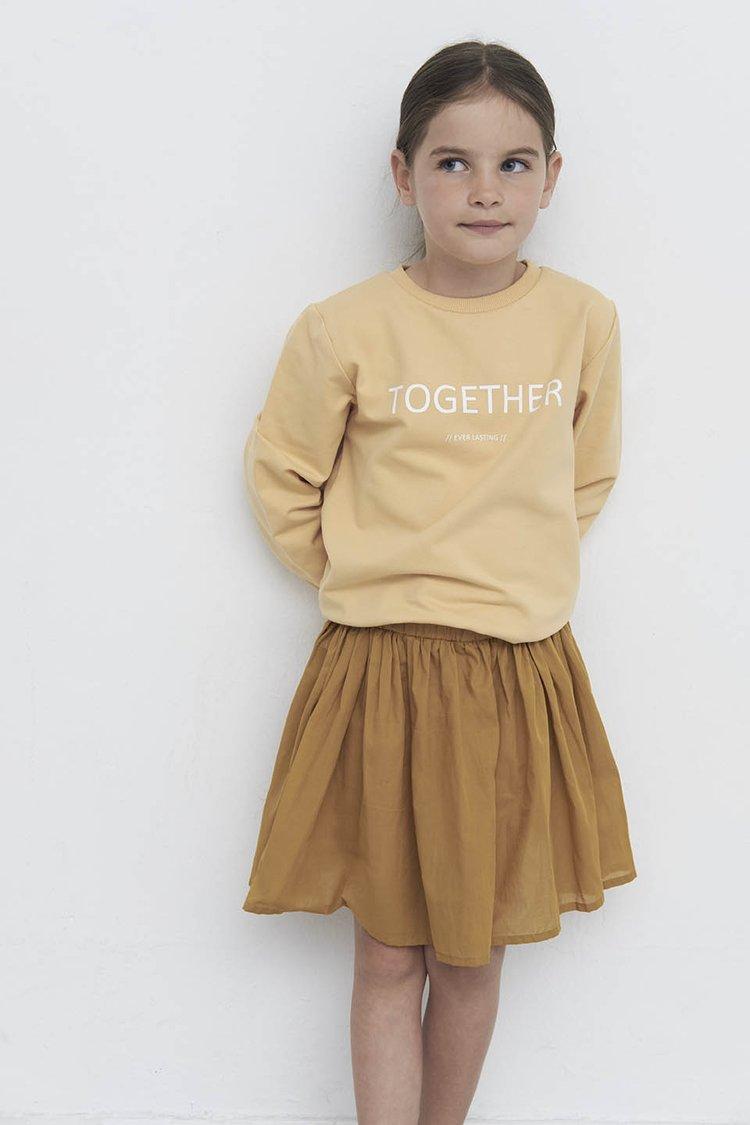 Gele trui met tekst 'Together' | trui voor kinderen