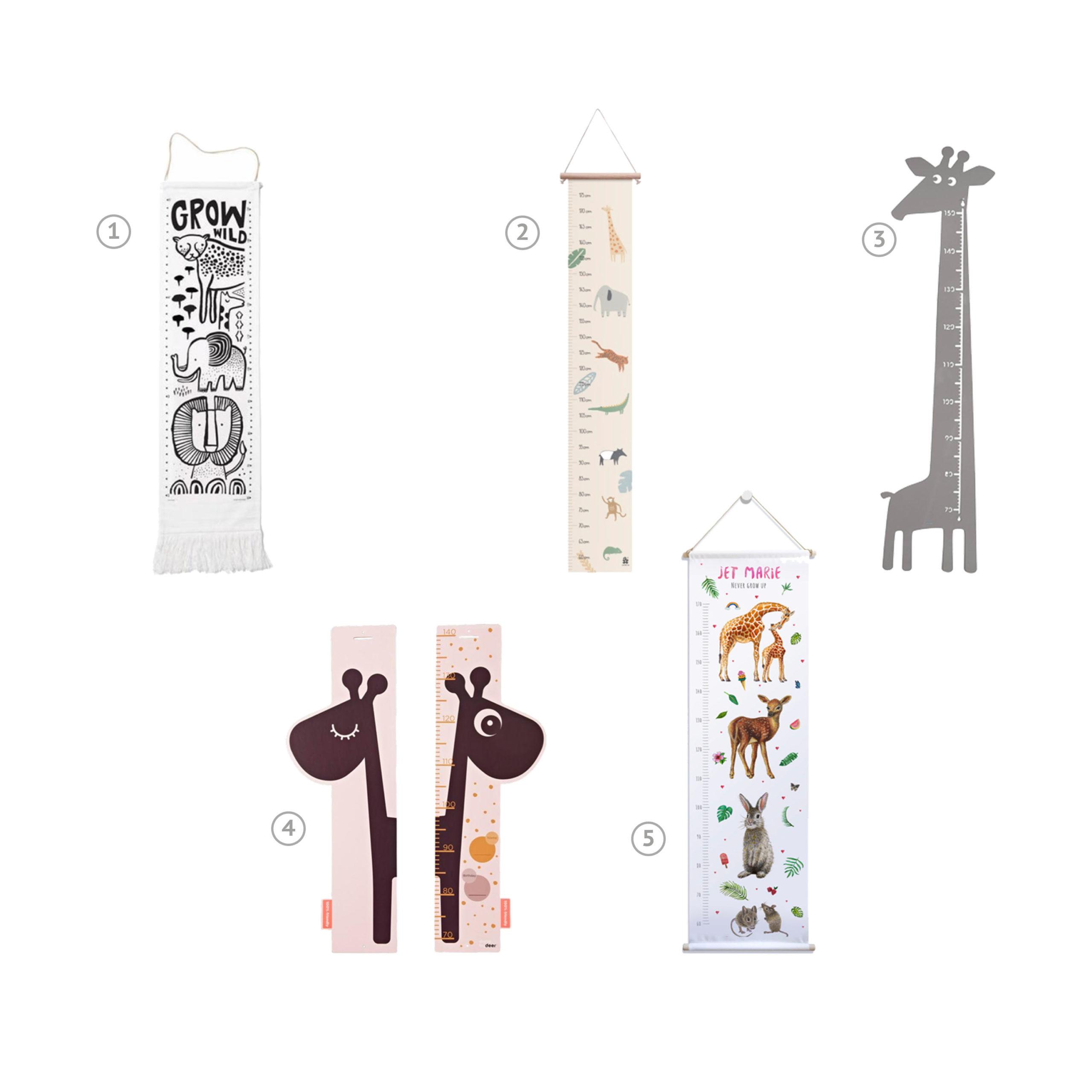 Een groeimeter is een leuke accesoire voor de kinderkamer of speelhoek. Wij delen onze favorieten met je in diverse thema's.