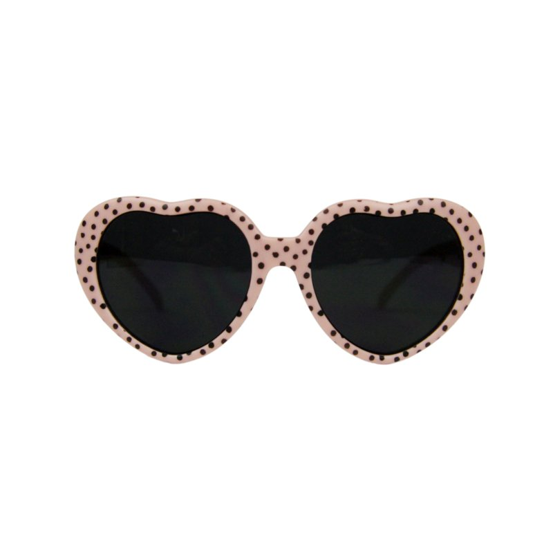 Meisjes zonnebril | Roze met stippen in de vorm van hartjes