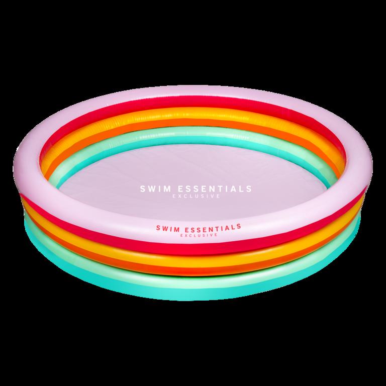 Opblaasbaar zwembad regenboog